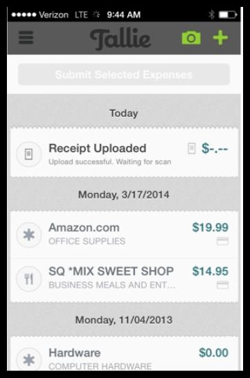 Tallie - business expense tracker