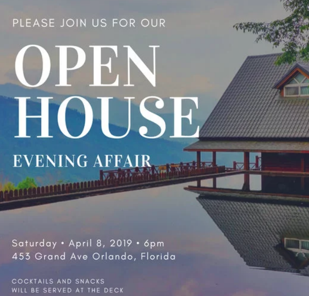 Canva - open house invitation - tips from the pros