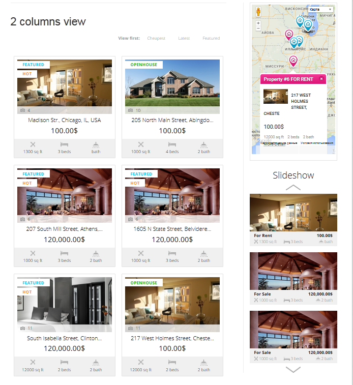 real estate widgets