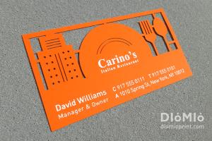 Carino's Italian Restaurant Business Card
