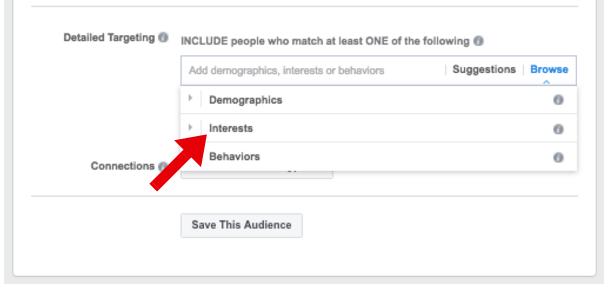 Detailed Targeting Options - facebook ad targeting