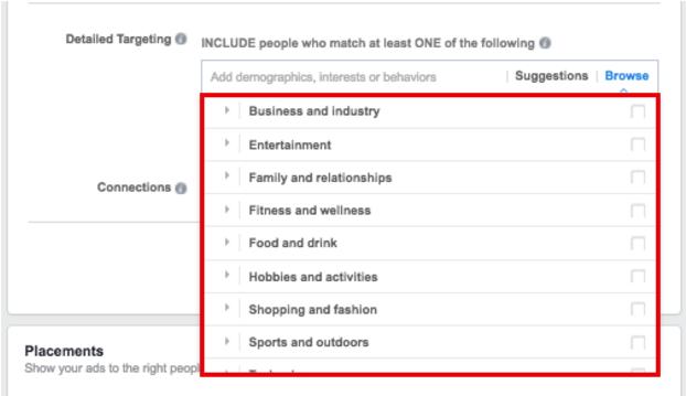 Facebook Interests Advertisers - facebook ad targeting