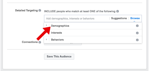 Target by Life Events in Facebook Ads Manager - facebook ad targeting