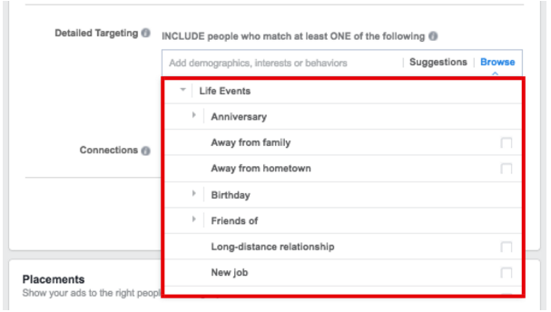 Life Events Advertisers Can Target on Facebook - facebook ad targeting