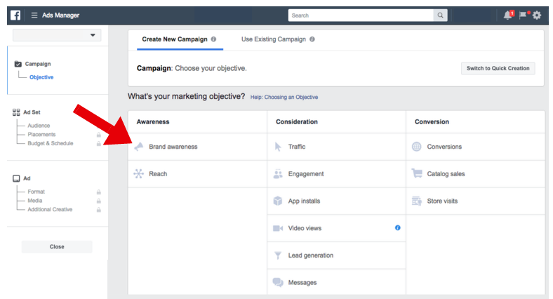 Facebook Ad Marketing Objective - facebook ad specs