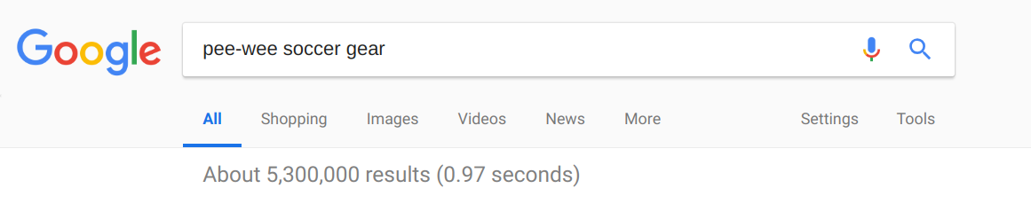 Google search - niche market
