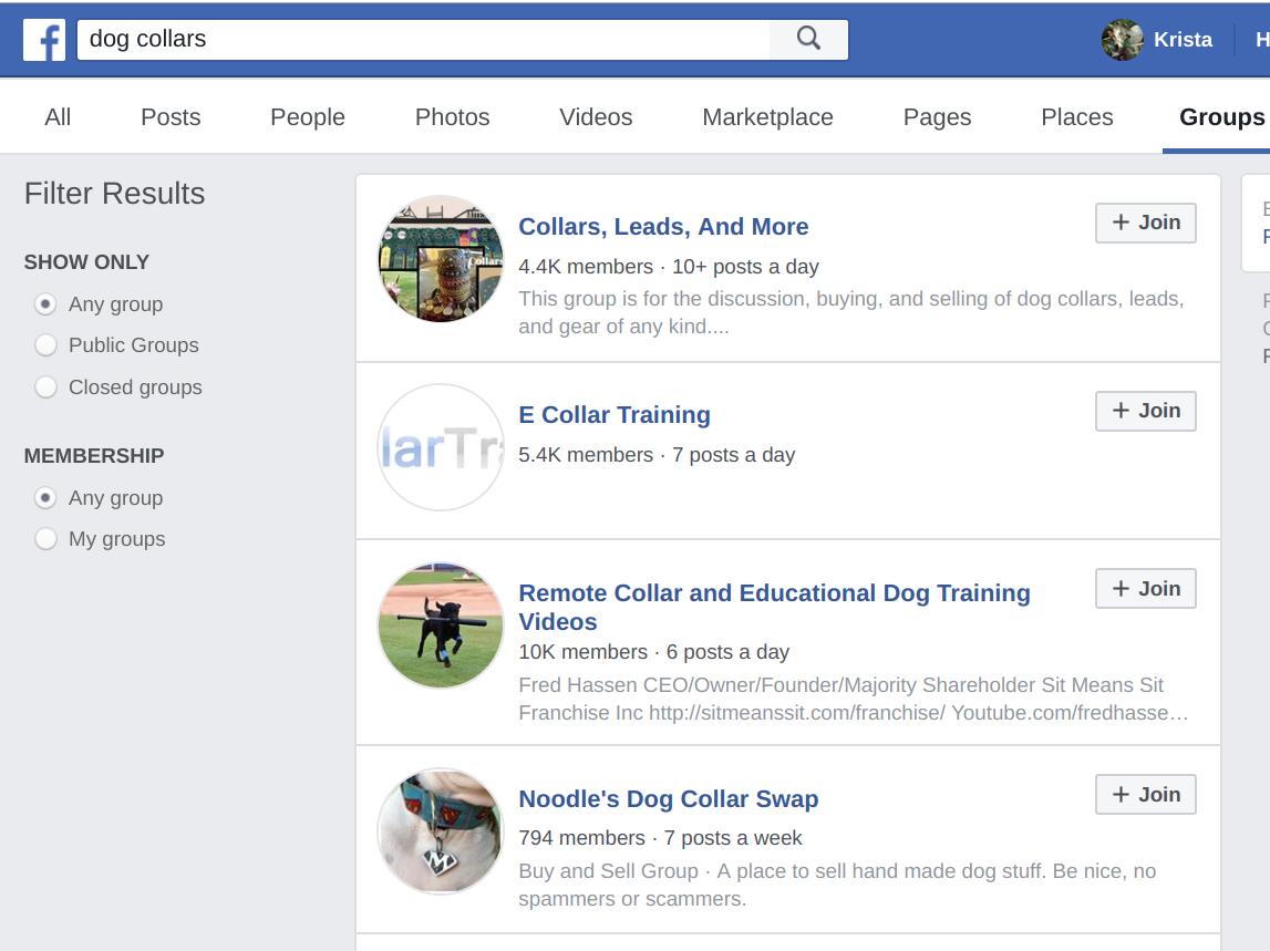 Facebook posts and ads - niche market