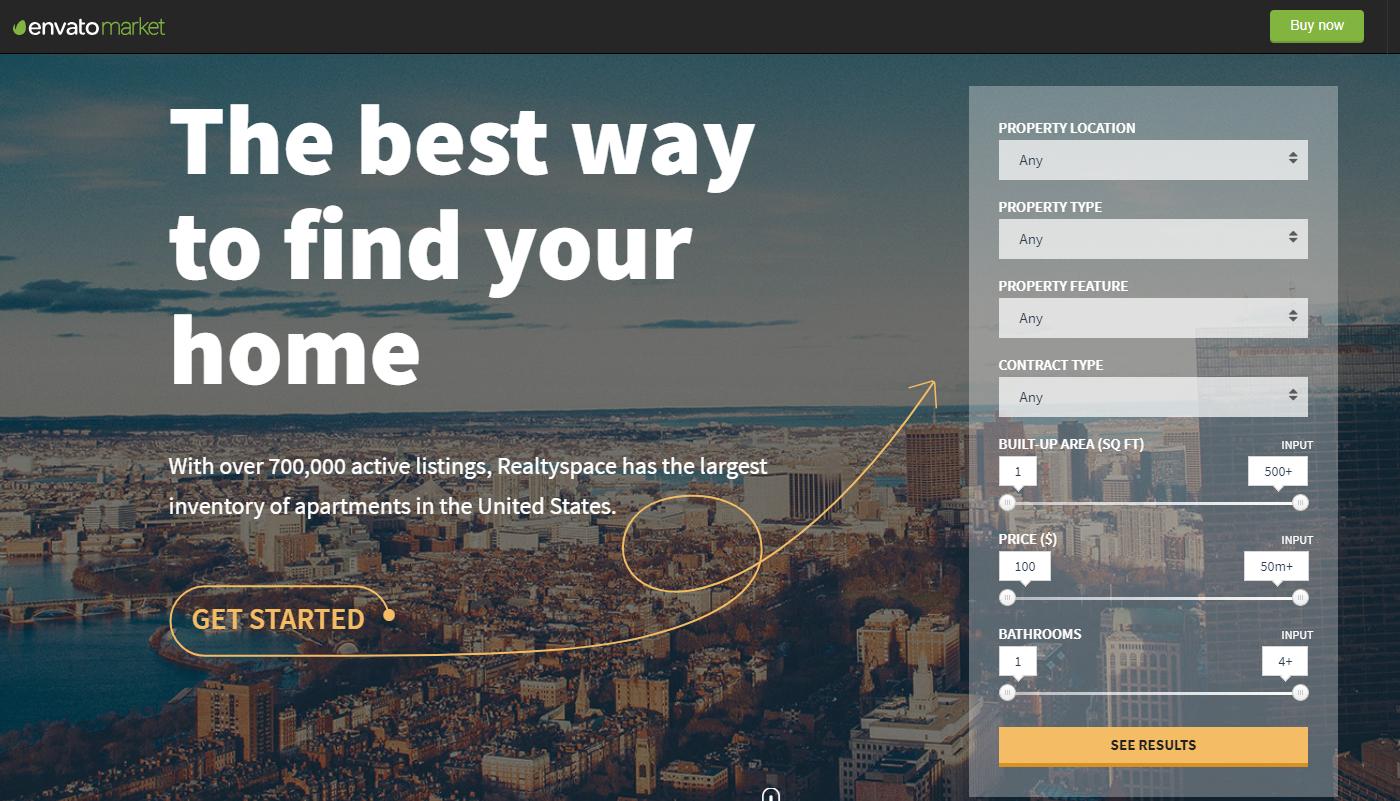 RealtySpace real estate wordpress themes