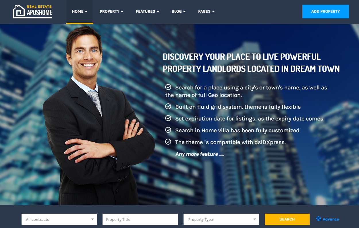 ApusHome real estate wordpress themes