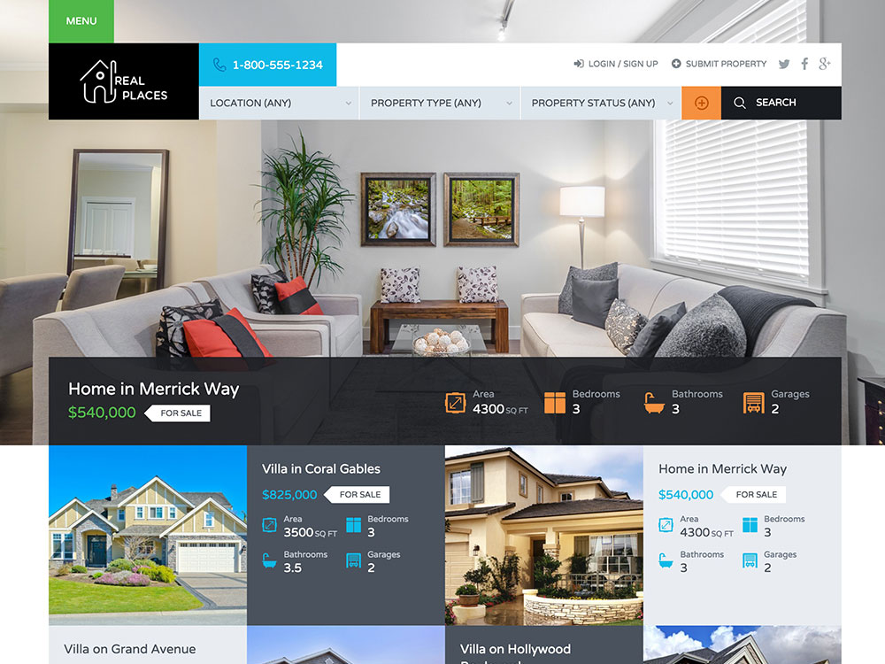 Real Place real estate wordpress themes