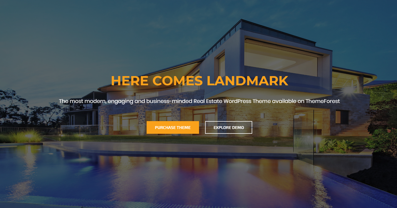 Landmark real estate wordpress themes