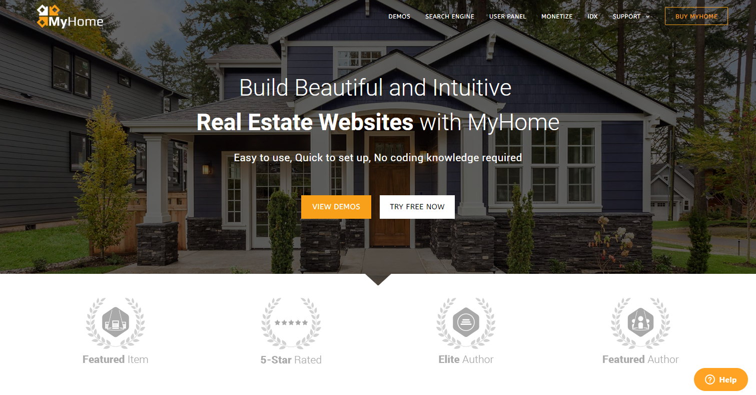 MyHome real estate wordpress themes
