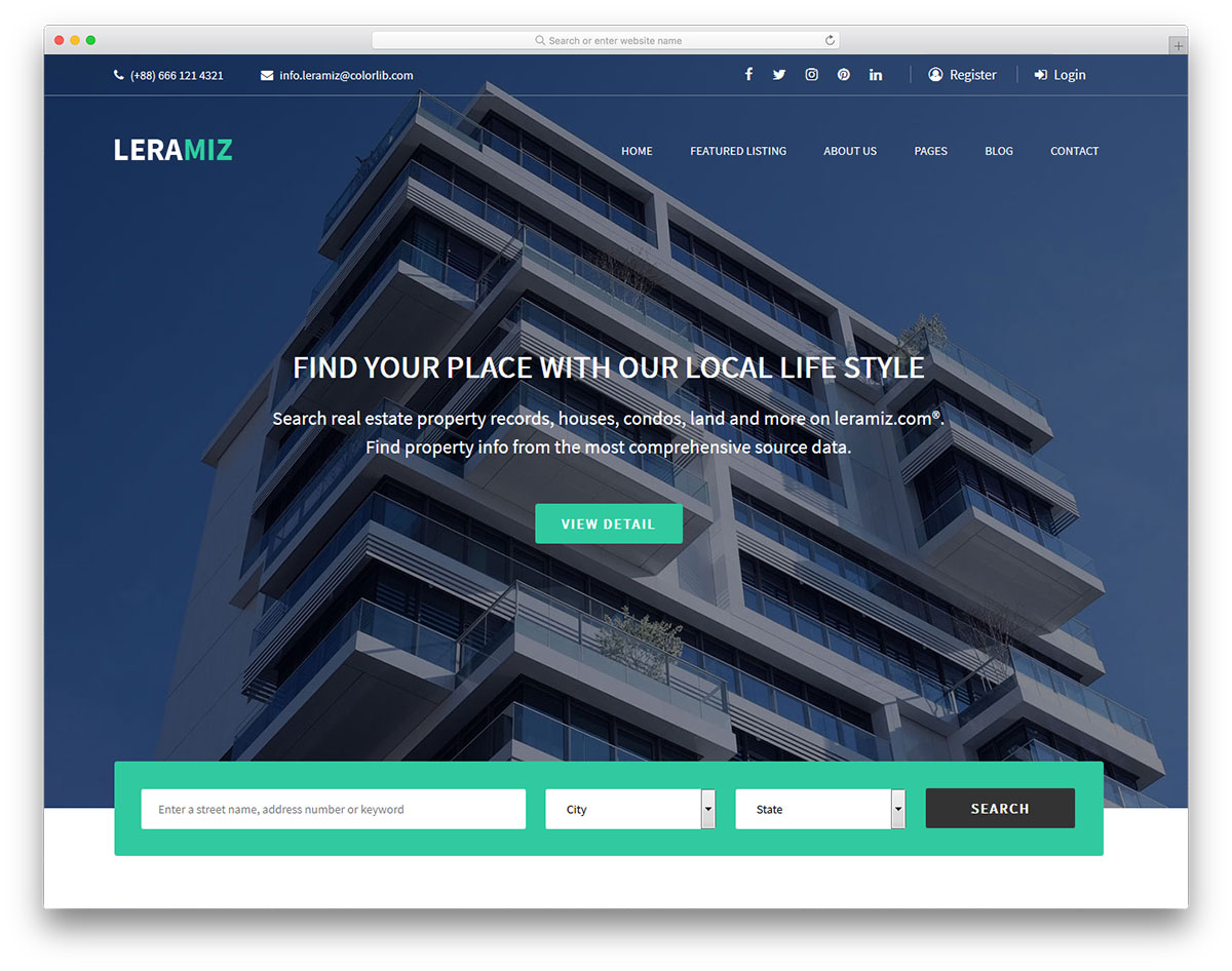 Leramiz real estate wordpress themes