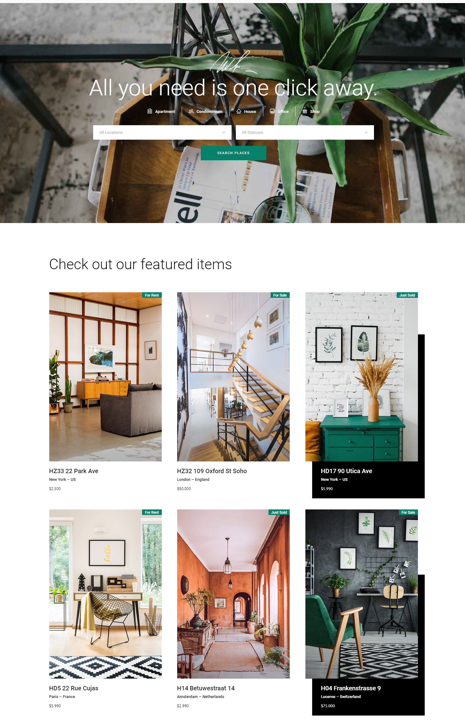 Eiddo real estate wordpress themes