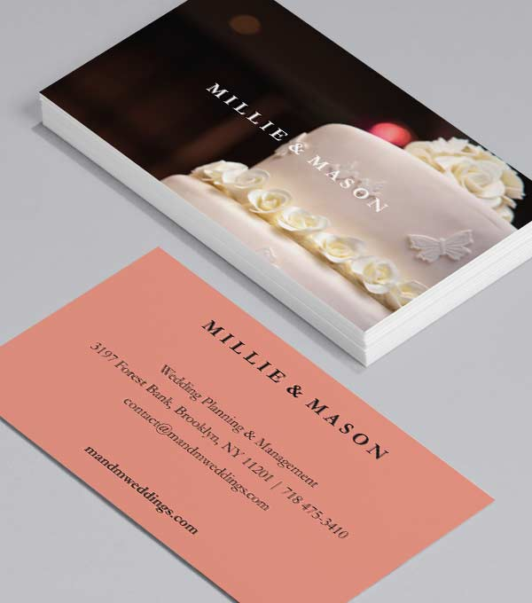 Wedding Planner Wedding Cake - event planner business cards