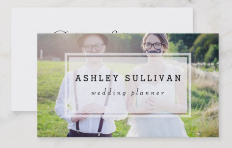 Modern Photo Overlay - event planner business cards