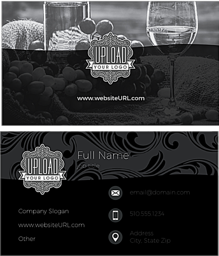 Elegant Monochrome - event planner business cards