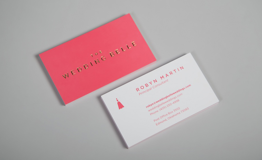 Color Themed Business Card Design - event planner business cards