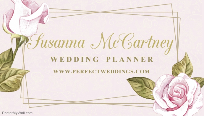 Elegant Border - event planner business cards