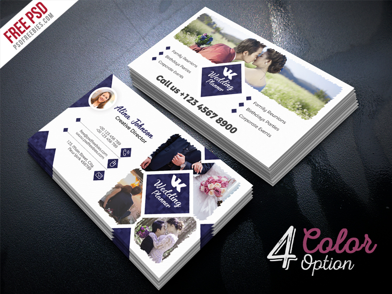 Corporate Design - event planner business cards