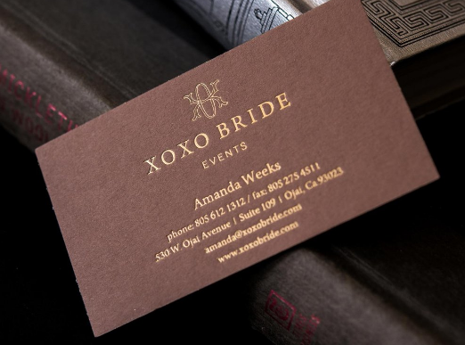 Letterpress Printing - event planner business cards