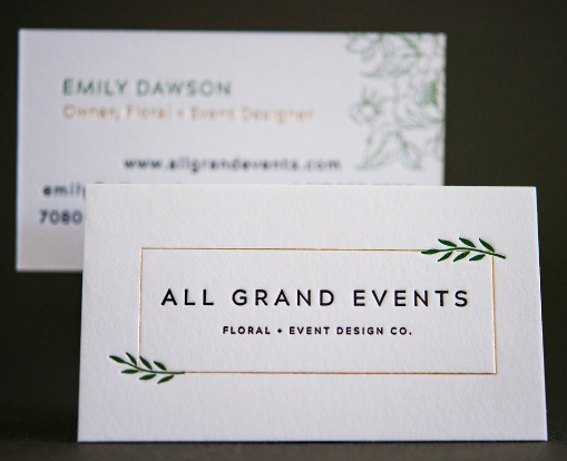 Minimalist Style - event planner business cards