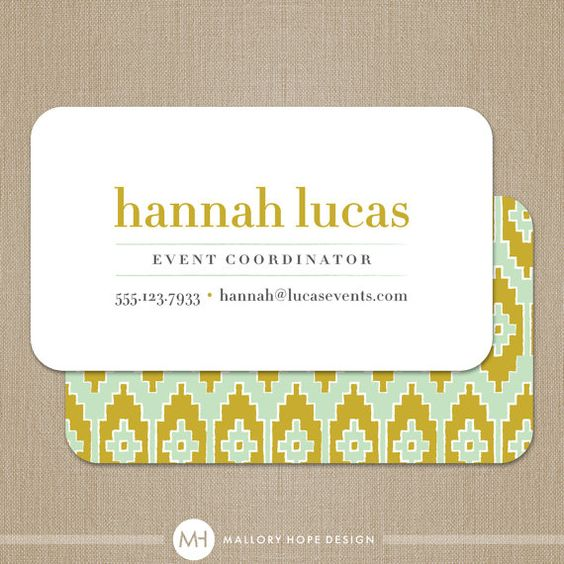 Pixel Patterned Background - event planner business cards