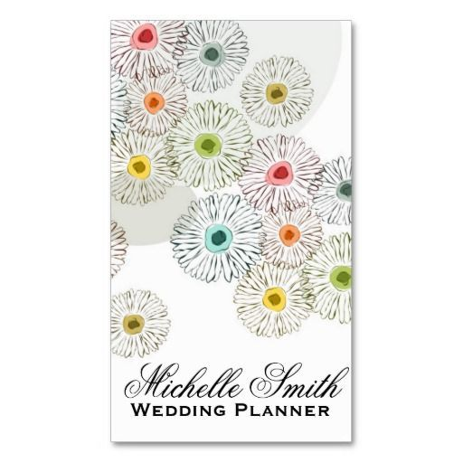 Hand Drawn Background - event planner business cards