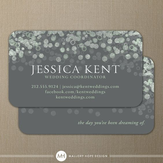 Champagne Bubble Design - event planner business cards