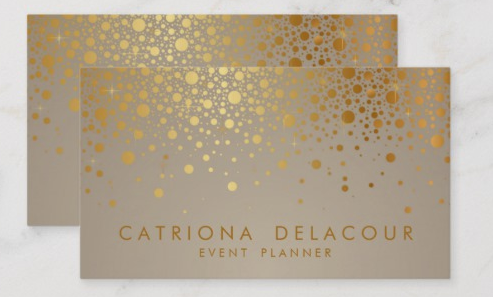 Gold Foil Design - event planner business cards