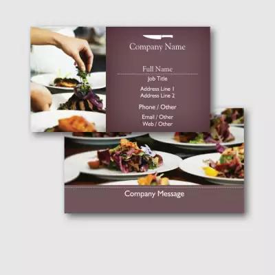 restaurant business cards