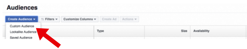 Facebook Ads Manager - facebook retargeting