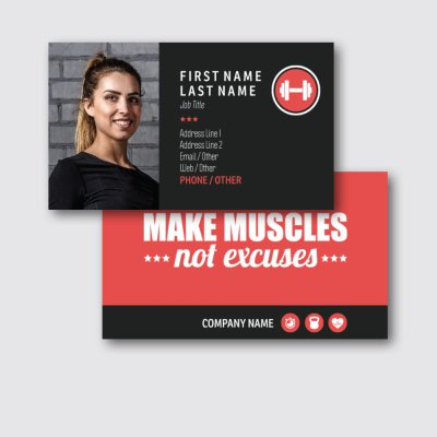 Vistaprint Personal Trainer Business Cards