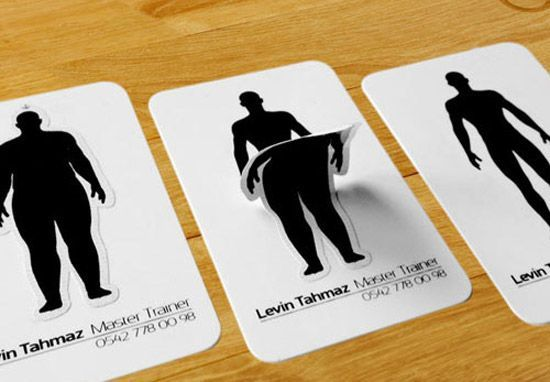 Add Stickers to Deliver Your Message - personal trainer business cards