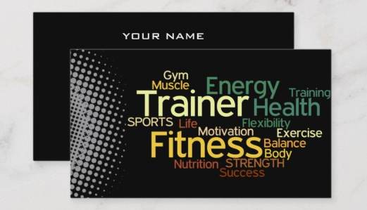Zazzle - Personal Trainer Business Card - personal trainer business cards