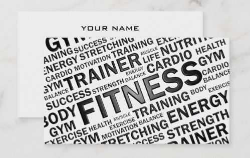 Zazzle - PT and Fitness Business Card - personal trainer business cards