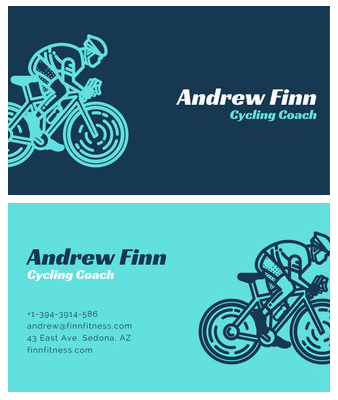 Canva - Cycling Business Car - personal trainer business cards