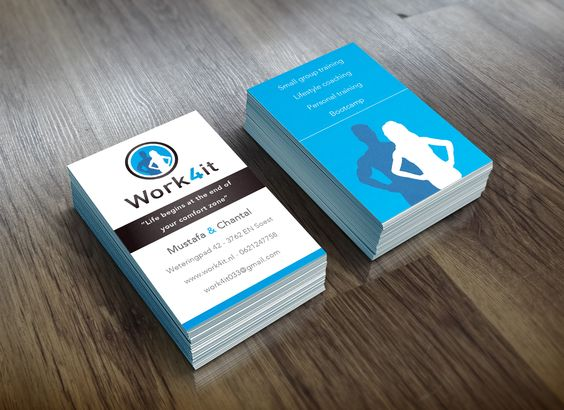 Use Color to Your Advantage - personal trainer business cards