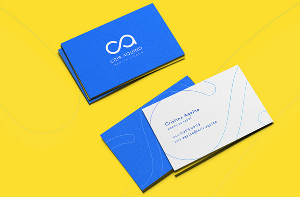 Add Elements of Your Logo to the Design - personal trainer business cards
