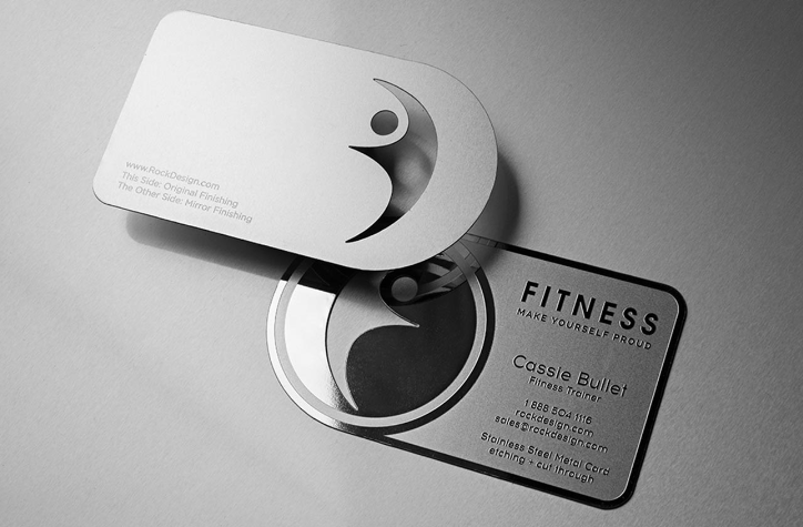 Rock Design - Fitness Business Card - personal trainer business cards