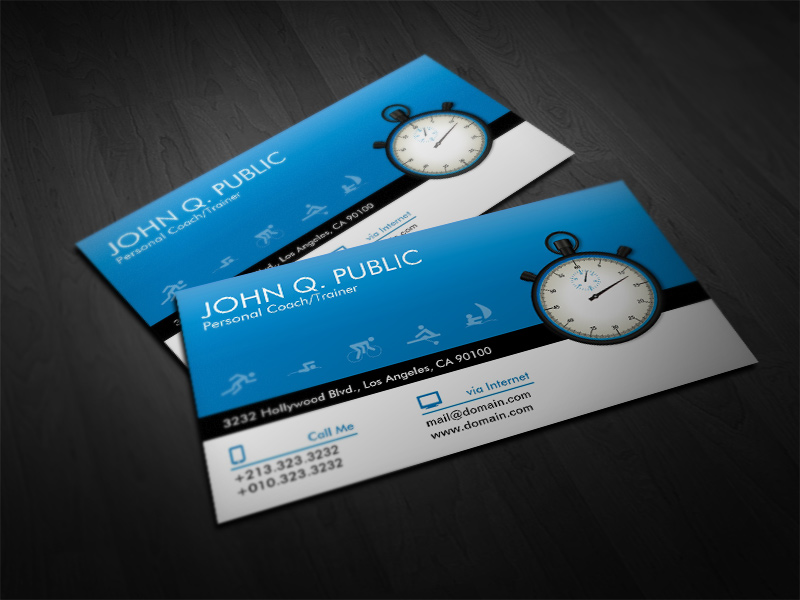 Use Iconic Symbols - personal trainer business cards