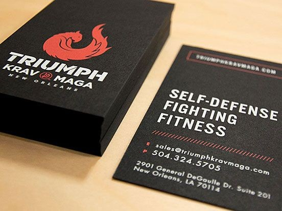 Use Accent Colors - personal trainer business cards