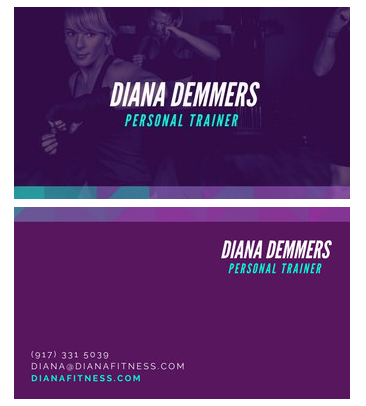 Canva - Purple Personal Trainer Business Card - personal trainer business cards