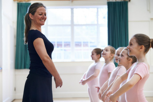 dance instructor and students