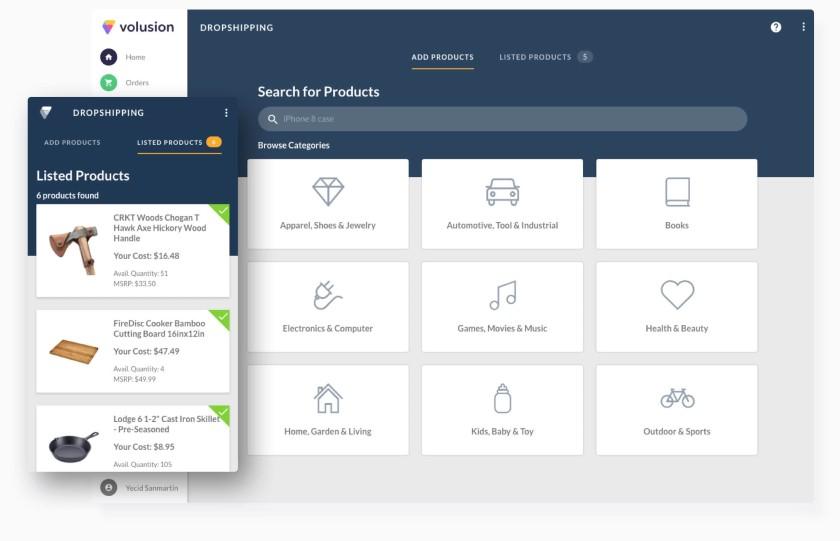 Screenshot of US Direct Drop Shipping Marketplace Dashboard