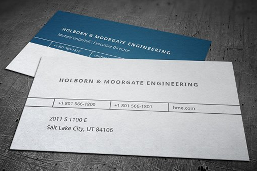 Top 25 Examples Of Engineering Business Cards From Around The Web