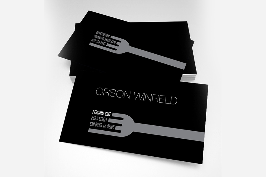 Professional Chef Business Cards