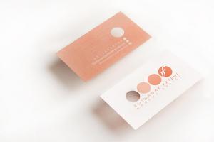 Roshanak Fatehi Makeup Artist Business Card