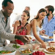 Have a Food Station in Each Department - holiday party Ideas