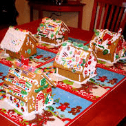 Have a Gingerbread House Making Contest! - holiday party Ideas